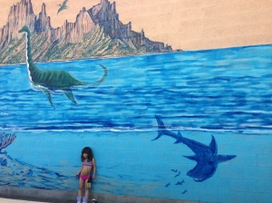 Mosasaurus Mural