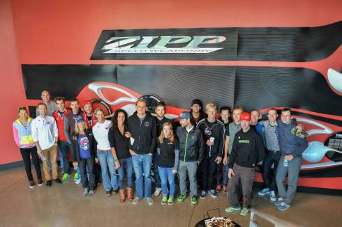 The SRAM CX family unites at Zipp in Indianapolis after Cinci3 races.